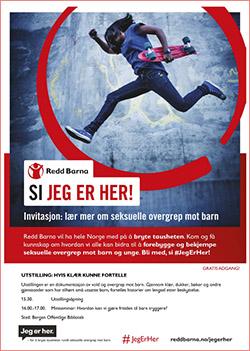 Invitasjon utstilling klaer kunne fortelle Bergen redd barna 2016 250px