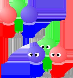 gruppe 3 personer fargerik 250px